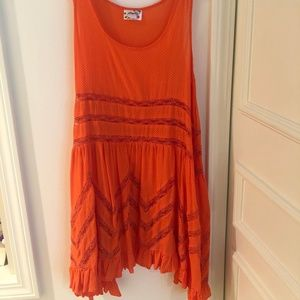 Free People Intimates Orange Dress